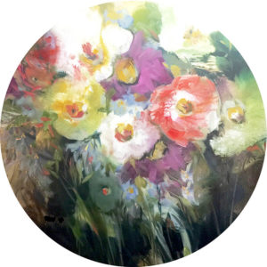 Danelle flower tabletop or wallpainting