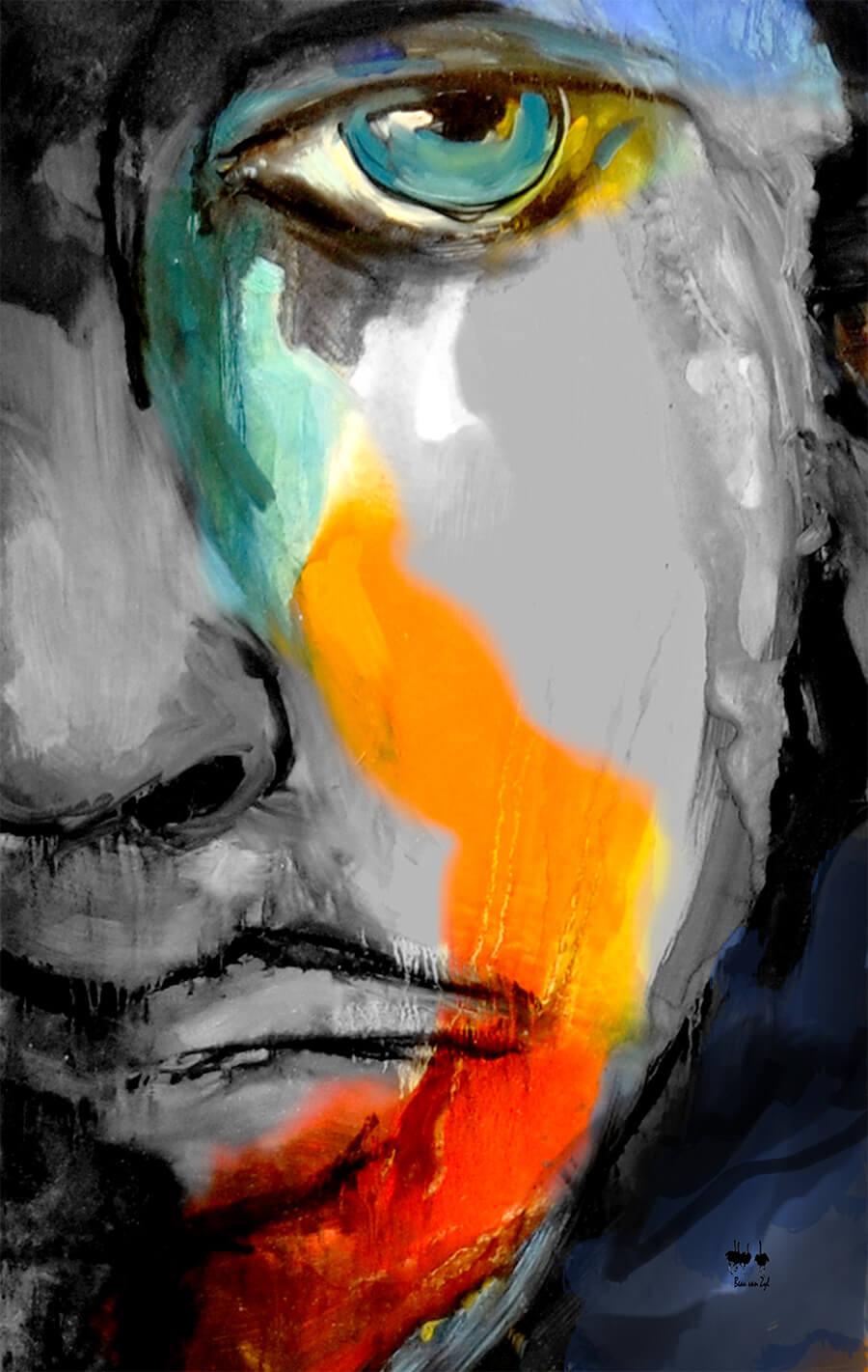 sad face painting