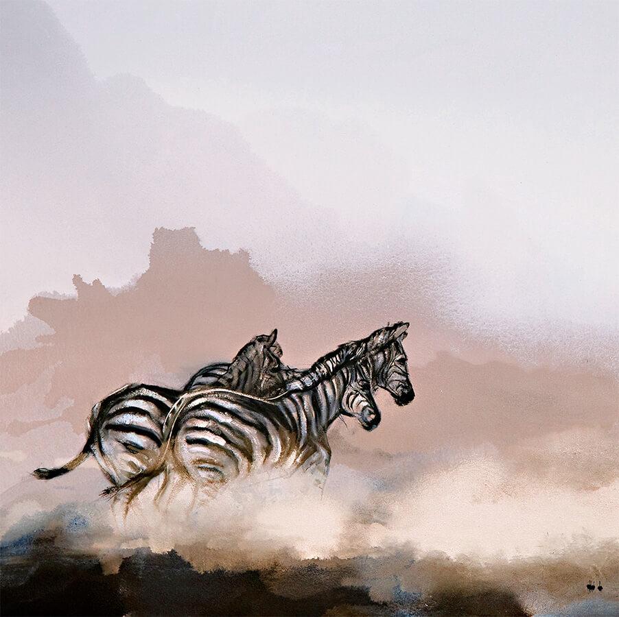 printed zebra scarf